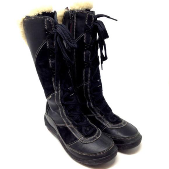 fb627ef1bab Merrell Prevoz Black Leather Winter Snow Boots 10.  M 5add490161ca10e858b57af5